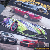 SLAMMED AT THE BEACH JDM Car Towel 35cm x 75cm