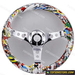 JDM Grafitti Sticker Bomb Aftermarket Steering Wheel 14inch 350mm