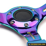 purple steering wheel,neo chrome steering wheel,rg steering wheel,quick release steering wheel,grip royal steering wheel,detachable steering wheel,removable steering wheel,aftermarket steering wheel,jdm steering wheel,racing steering wheel,steering wheel for sale