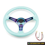 neo chrome steering wheel,rg steering wheel,quick release steering wheel,grip royal steering wheel,detachable steering wheel,removable steering wheel,aftermarket steering wheel,jdm steering wheel,racing steering wheel,steering wheel for sale