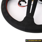 ND Red Stitch Leather Steering Wheel 14inch