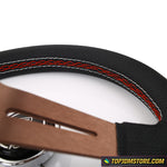 ND Lightweight Aluminum Sport Steering Wheel Real Leather