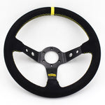 racing steering wheel,aftermarket steering wheel,deep dish steering wheel,drift steering wheel,rally steering wheel,quick release steering wheel,car steering wheel,omp steering wheel,steering wheel for sale,rally steering wheel,suede steering wheel