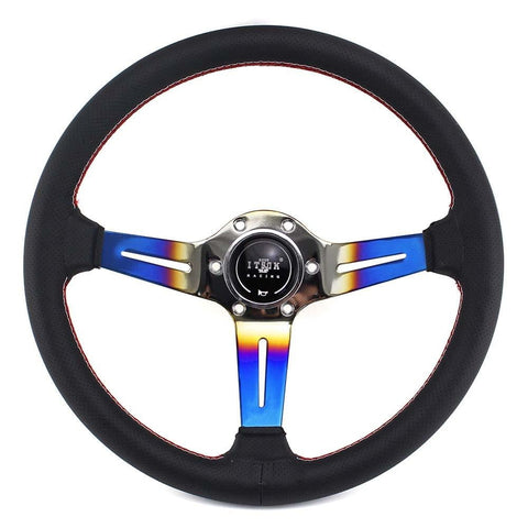 ITSOK Aftermarket Steering Wheel Blue Burned 14inch - Top JDM Store