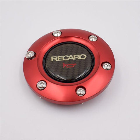 RECARO Carbon Fiber Aluminum Edge Horn Button - Top JDM Store
