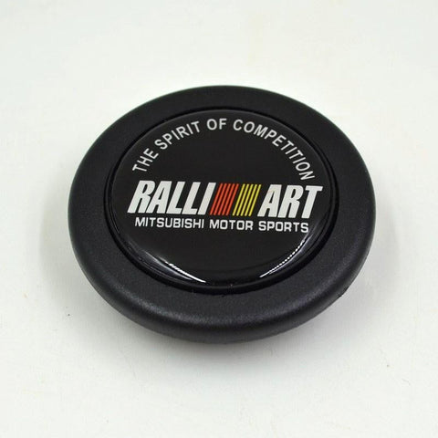 Ralliart Black Racing Steering Wheel Horn Button Cover Mitsubishi - Top JDM Store
