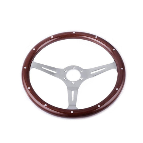 Genuine Wood Grain Steering Wheel Classic 15inch 380mm - Top JDM Store