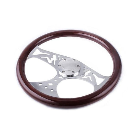 Genuine Wood Grain Steering Wheel Sexy 15inch 380mm - Top JDM Store
