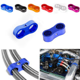 Dual Stepped Billet Braided Hose Separator Clamp Cable Fastener AN6 - Top JDM Store