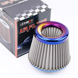 "JDM Burnt Blue Racing High Flow Power Air Intake Filter Cone 3"" 76mm - Top JDM Store"