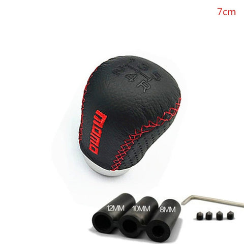MOMO Leather Stitched Shift Knob Short 5MT
