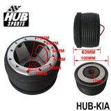 kia boss kit,hub sports,hub sports boss kit,quick release hub,short steering wheel hub,steering wheel hub,steering wheel hub kit,nrg hub adapter,steering wheel adapter,steering wheel control adapter,nrg quick release steering wheel,quick release boss kit,6 bolt steering wheel adapter