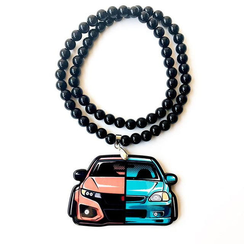 JDM Car Two Generation Front Badge Emblem Pendant Accessory - Top JDM Store