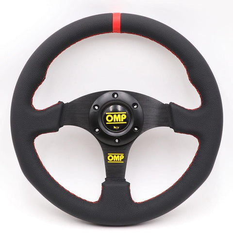 OMP Genuine Leather Steering Wheels 13inch - Top JDM Store