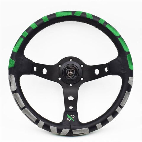 vertex 1996 steering wheel green,vertex steering wheel,jdm steering wheel,leather steering wheel,vertex 1996,ek9 steering wheel,deep dish steering wheel,aftermarket steering wheel,best aftermarket steering wheel,momo deep dish steering wheel,omp deep dish steering wheel,nrg deep dish steering wheel,miata aftermarket steering wheel