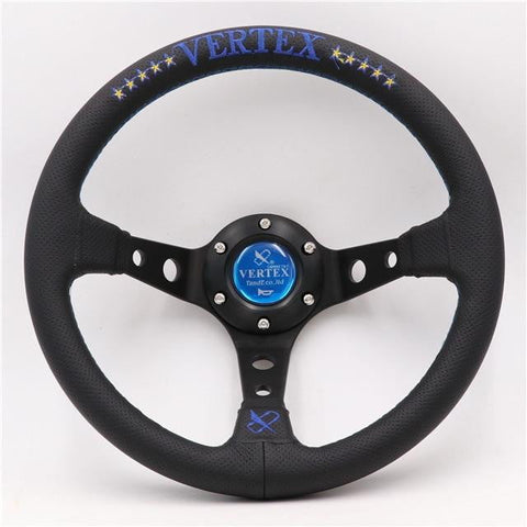 Vertex 10 Star Aftermarket JDM Steering Wheel Embroidery Leather 13 inch - Top JDM Store