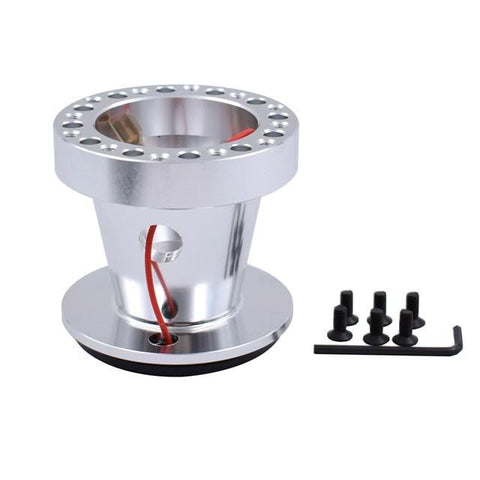 Aluminum Silver CNC Quick Release Steering Wheel Hub Boss Kit for Nissan - Top JDM Store