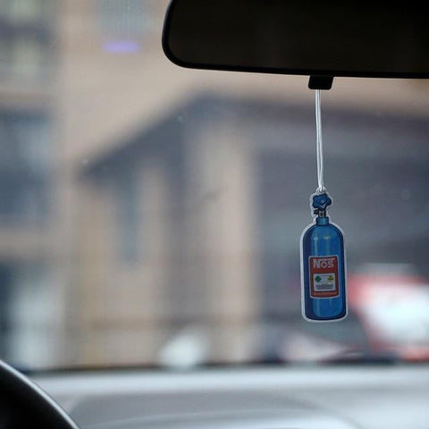 NOS Bottle Nitrous Oxide Blue Tank Air Freshener Boost - Top JDM Store