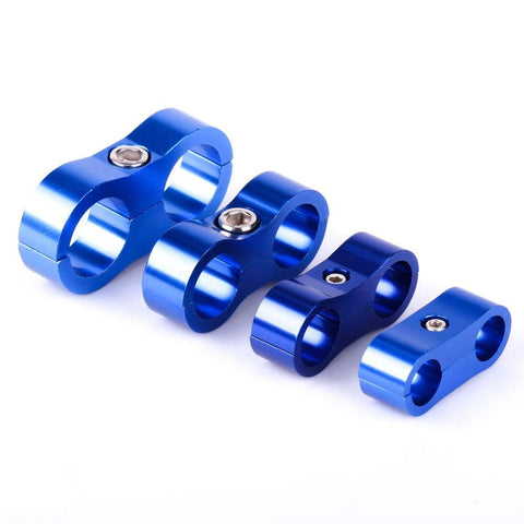 Dual Stepped Billet Braided Hose Separator Clamp Cable Fastener AN4 11MM/AN6 14MM/AN8 16MM/AN10 20MM - Top JDM Store