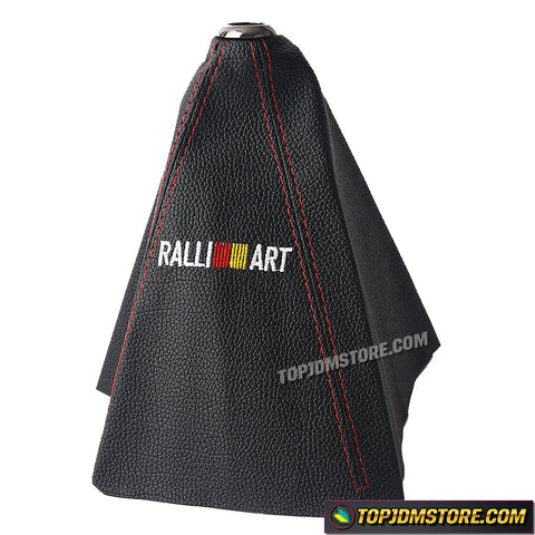 Ralliart Leather Shift Boot Aftermarket Shifter Cover