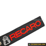 Recaro Keychain Embroidered Jet Tag Ring