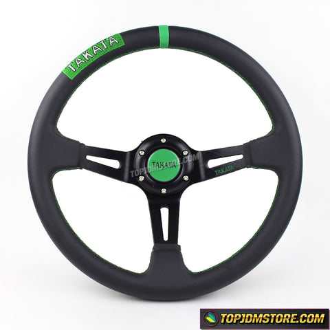 takata steering wheel,leather steering wheel,deep dish steering wheel,drifting steering wheel,jdm steering wheel,ek9 steering wheel,sports leather steering wheel,drift car steering wheel,aftermarket steering wheel,best aftermarket steering wheel