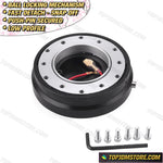 Thin Snap Off Quick Release Ball Locking Steering Wheel Hub