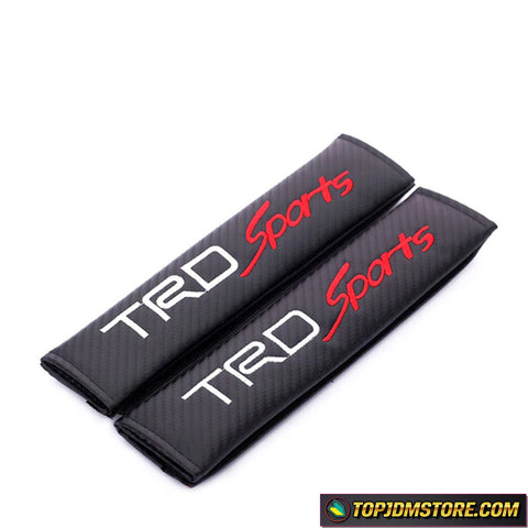 TRD Sports Carbon Fiber Seat Belt Pads