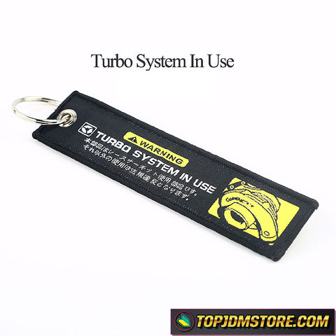 Turbo System in Use Keychain
