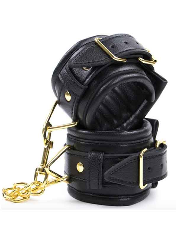 Yokubō Bondage Plush Leather Wrist Cuffs