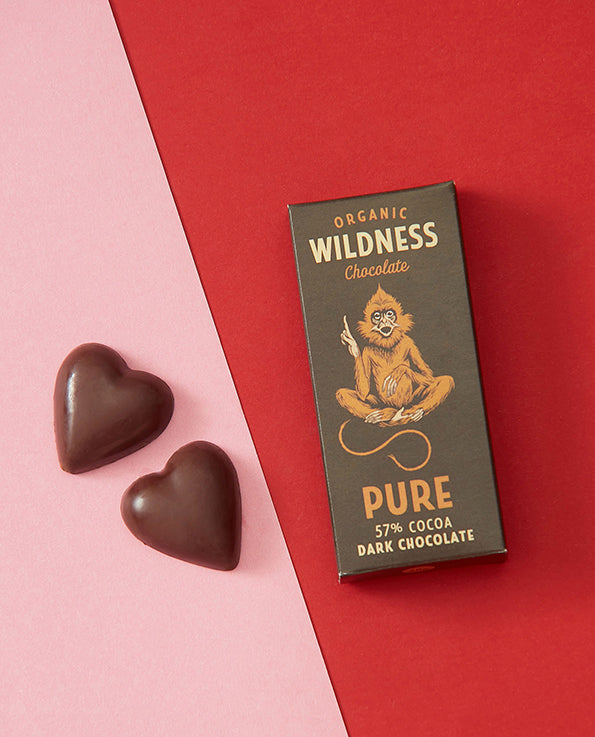 Organic Wildness Heart-Shaped Chocolates