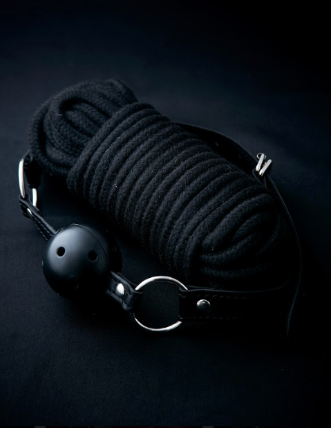 Yokubō Breathable Ball Gag & Rope Set