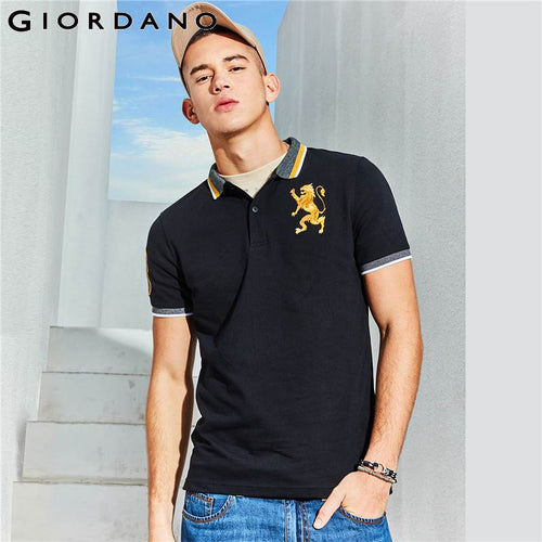 Embroidered Lion Polo Shirt