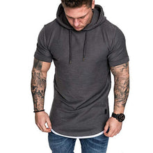 Load image into Gallery viewer, Solid Short-Sleeve Slim Fit Pullover