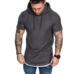 Solid Short-Sleeve Slim Fit Pullover