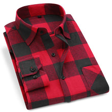 Load image into Gallery viewer, STOPSHOP Men Flannel Plaid Shirt