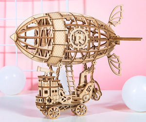 Steampunk Airship 3-D Wood Puzzle Kit