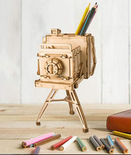Load image into Gallery viewer, Vintage Camera Storage Box 3-D Wood Puzzle Kit
