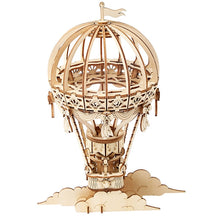 Load image into Gallery viewer, Hot Air Balloon 3-D Wood Puzzle Kit