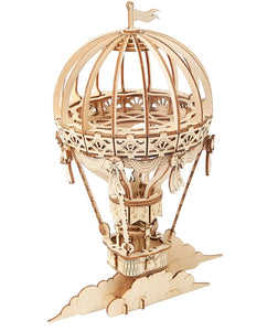 Hot Air Balloon 3-D Wood Puzzle Kit