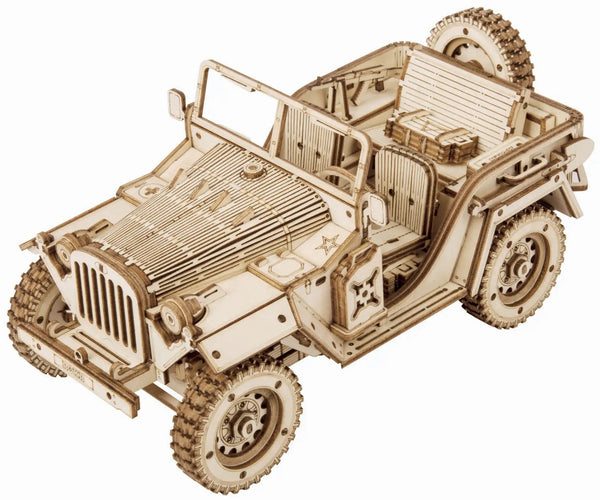 Vintage Army SUV 3D Puzzle Kit