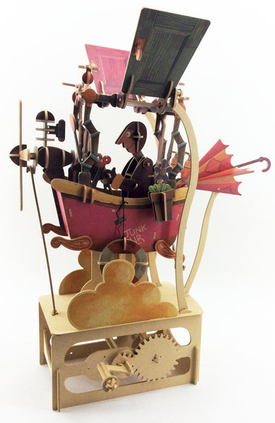 Junk Air Wood Automaton Model Kit
