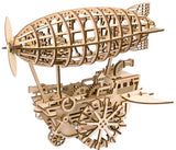 Wind-Up Steampunk Airship Wooden Vehicle Kit
