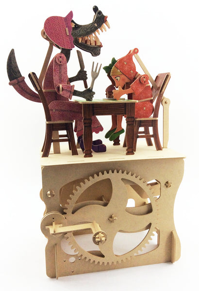 Little Red Riding Hood Wood Automaton Model Kit