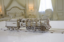 Load image into Gallery viewer, Steam Locomotive with Tender Mechanical Model Kit
