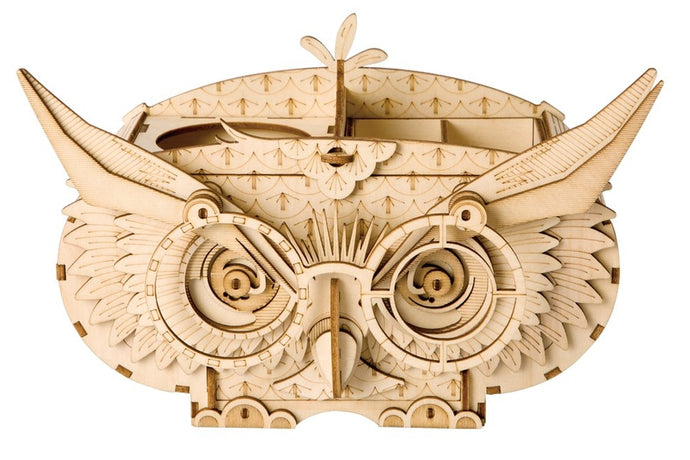 Owl Storage Box 3-D Wood Puzzle Kit