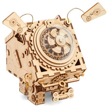Load image into Gallery viewer, Seymour, the Faithful Singing Dog - Steampunk Wood Music Box Kit