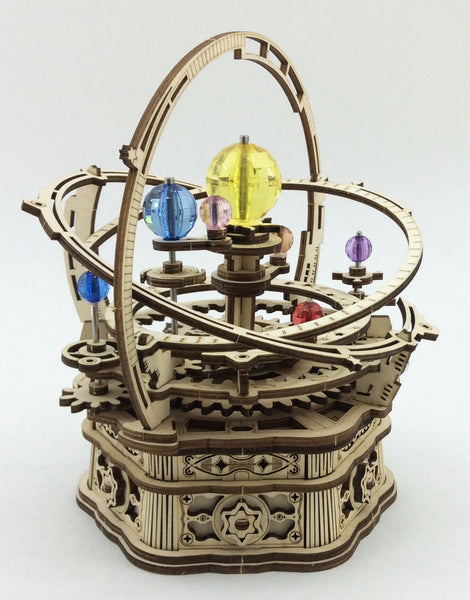 Starry Night Orrery Wood Music Box Kit