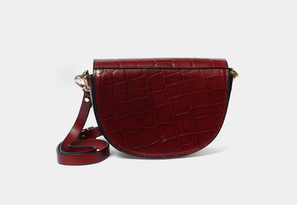 Crossbody Bag with Croc Finish