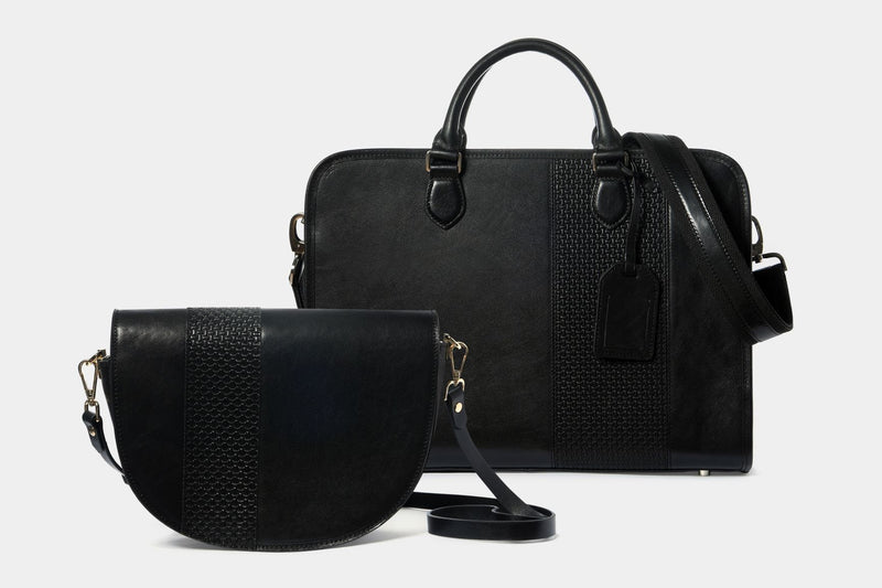 Briefcase and shoulder bag set